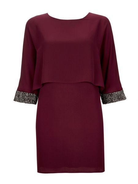 Wallis Port Embellished Cuff Dress