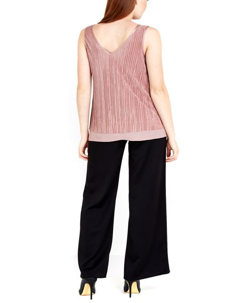 Wallis Double Layer Plisse Top