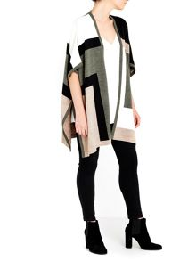 Wallis Khaki Colour Block Wrap