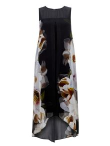 Wallis Printed Floral Rose Mirror Dress
