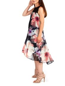 Wallis Pink Floral Blur Print Dress