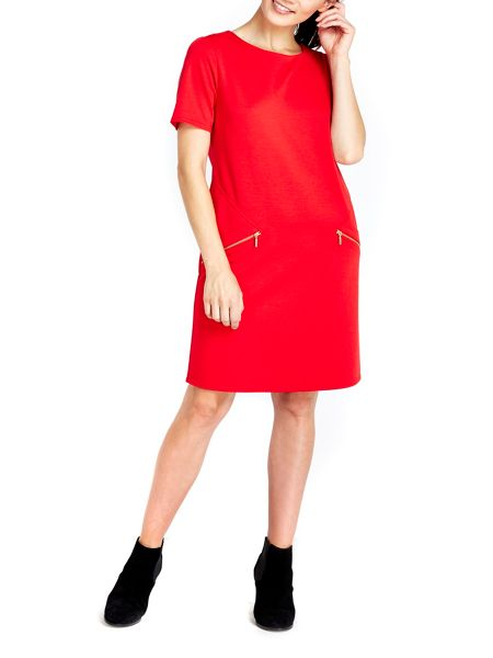 Wallis Red Zip Shift Dress