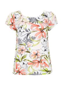 Wallis Cream Floral Print Shell Top