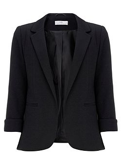 Petite Black Ribbed Jacket
