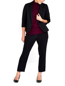 Wallis Petite Black Ribbed Jacket