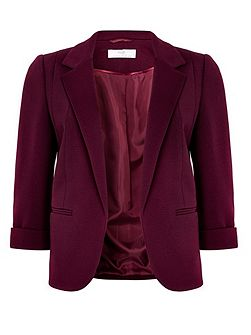 Petite Berry Ribbed Jacket