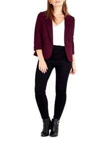 Wallis Petite Berry Ribbed Jacket