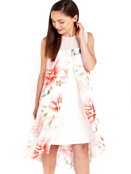 Wallis Ivory Pink printed Floral Dress