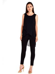 Wallis Diagonal Split overlayer Jumpsuit
