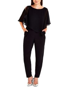 Wallis Asymmetric Overlayer Jumpsuit