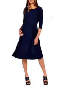 Wallis Crepe Fit and Flare Dress
