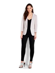 Wallis Stone Ribbed Ponte Jacket