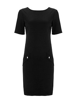 Petite Black Pocket Dress