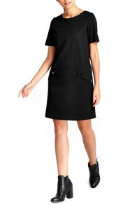 Wallis Petite Black Pocket Dress