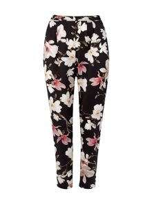 Wallis Floral Black Trouser