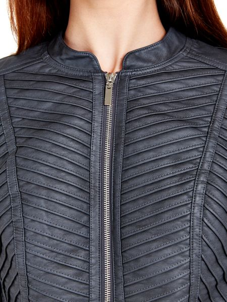 Wallis Dark Grey Faux Leather Jacket