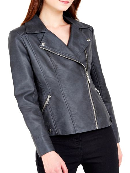 Wallis Dark Grey Biker Jacket