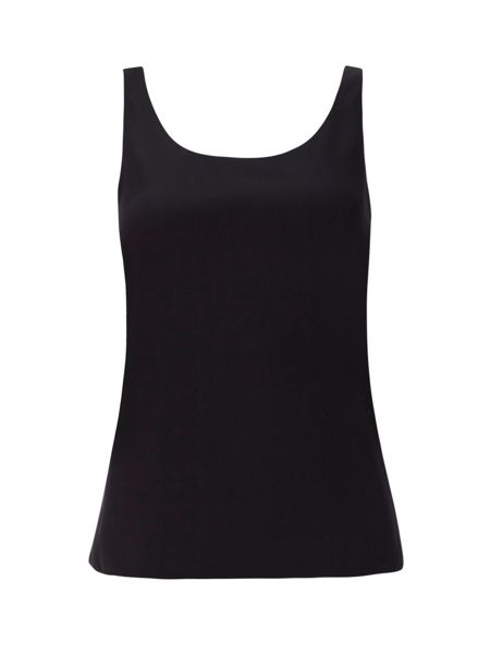 Wallis Petite Black Round Neck Cami Top