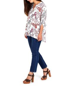 Wallis Butterfly Print Shirt