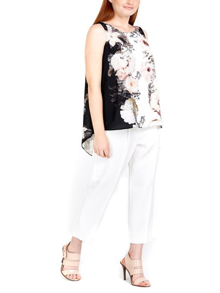 Wallis Floral Split Back Top