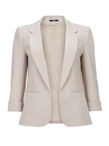 Wallis Petite Stone Ribbed Ponte Jacket