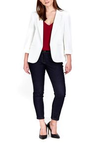 Wallis Petite Ivory Ribbed Ponte Jacket