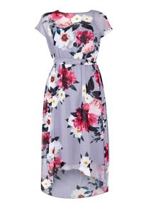 Wallis Petite Grey Floral Dress