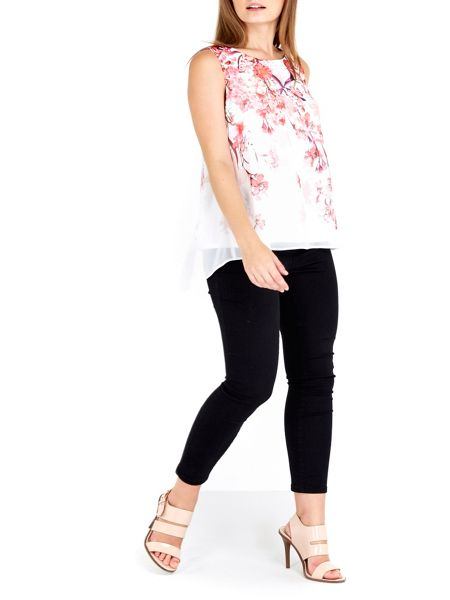 Wallis Petite Pink Floral Shell Top