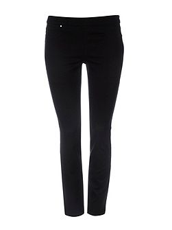 Petite Black Side Zip Trouser