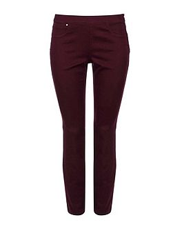 Petite Berry Side Zip Trouser