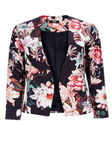 Wallis Black Floral Jacket