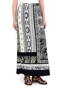 Wallis Petite Neutral Paisley Maxi Skirt