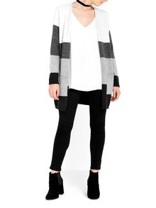 Wallis Grey Colour Block Cardigan