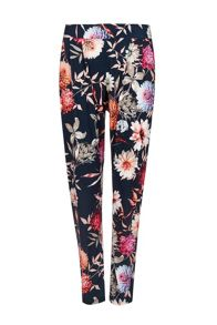 Wallis Black Floral Printed Trouser