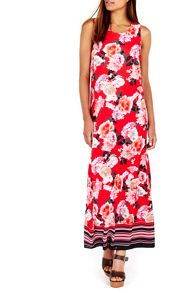 Wallis Floral Stripe Maxi Dress