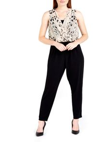 Wallis Leopard Asymetric Jumpsuit