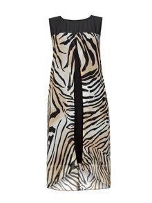 Wallis Animal Print Split Overlay Dress