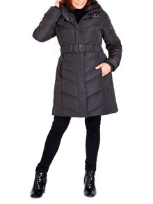 Wallis Grey Buckle Collar Coat