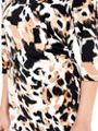 Wallis Animal Print Dress With Zip Shoulder Detailing