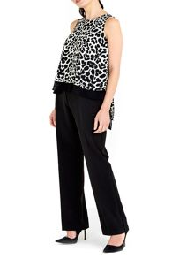 Wallis Animal Print Layered Jumpsuit