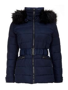 Wallis Navy Padded Short Jacket