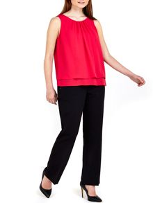 Wallis Pink Double Layer Shell Top