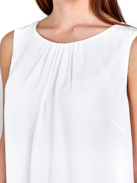 Wallis Ivory Double Layer Shell Top