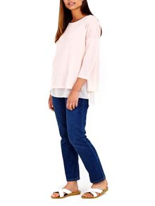 Wallis Blush Chiffon Top