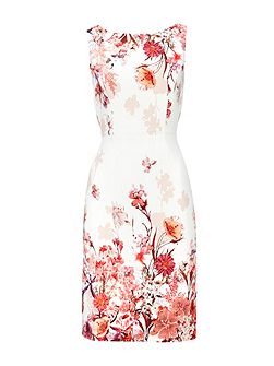 Petite Pink Floral Shift Dress