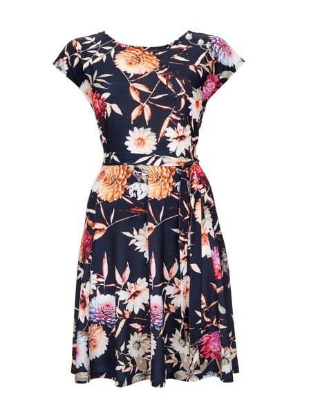 Wallis Floral Fit and Flare Dress