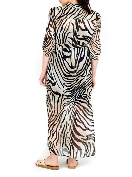 Wallis Zebra Maxi Shirt Dress