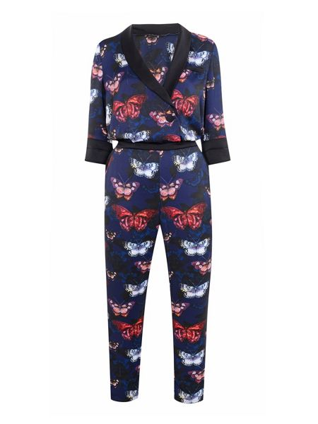 Wallis Butterfly Print Jumpsuit