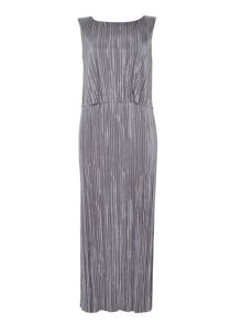 Wallis Grey Plisse Maxi Dress