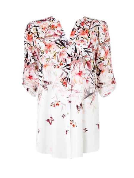 Wallis Cream Botanical Floral Shirt
